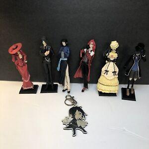 Black Butler Figures Square Enix Grell, Sebastian, & More! 6 Figures + Keychain