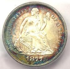 1877-CC Seated Liberty Dime 10C Coin - Certified ICG MS66 - $3,440 Value!