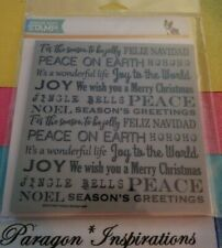 SIMON SAYS STAMP HOLIDAY BACKGROUND Stamp Words Sayings Peace on Earth Joy
