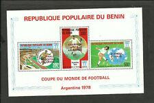 SOCCER W/CUP 1978 BENIN YV # BL #402a, MNH, VF