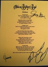 Allman Brothers Band Autographs