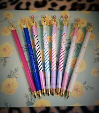 8pcs Fashion 0.5mm Cute Creative Metal Crown Pearl Refill Mechanical Pencil
