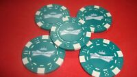 #5 BUDWEISER Beer Poker Chip Bow tie CROWN design Golf Ball Marker-Card Guard  g