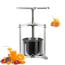 1.6 Gallon Aluminum Fruit Press Stainless Steel Cage Wines Fruit Juices Ejwox