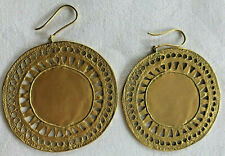 disk earrings preColumbian Vintage reproduction Galeria La Cano 24k gold plated