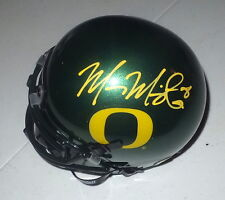 MARCUS MARIOTA Titans Auto'd OREGON Mini Helmet including Becket #B95604