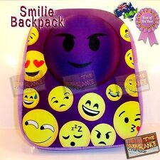 smilie heart rave backpack festival bag purple