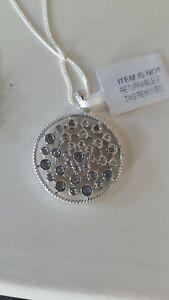 "Narsipatnam Alexandrite & Zircon 925 Sterling Silver ""Disc"" Pendant & Chain."