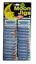 K&E Moon Jigs, Size 12, Card of 24, Glitter / Glow in Assorted Colors #70-12-Ast