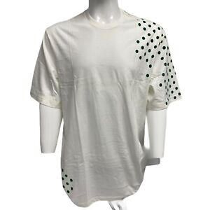 Vintage Nike Men's White T-shirt with Green Dots 3XL