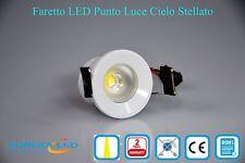 Faretto incasso LED Punto Luce 1w Rotondo Luce calda Cielo Stellato Cod. 01516