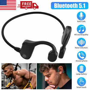 Bluetooth 5.1 Bone Conduction Headset Open Ear Wireless Outdoor Sport Headphones