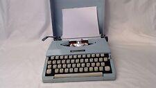 vintage IMPERIAL 200 PORTABLE TYPEWRITER & case retro vintage pale blue 1970's