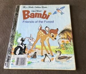 Little Golden Book- Paperback Book- Bambi Friends Of The Forest