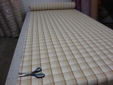 Ashley Wilde Edderton Tartan Check Mustard DESIGNER Curtain / Upholstery Fabric