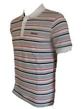 Reebok Men's/Boys Polo Shirt, Striped Piq,White,XS-30-32 Chest,Slim Fit,Cotton
