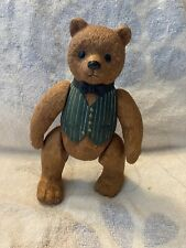 """Brown Ceramic Ted D Bear 8"""" Tall Moves Hands And Feet Guc Free Ship"""