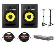 KRK ROKIT 8 RP8G3 Studio Monitor Pair + Stands + Cables + Pads