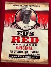 "ED'S RED HOT SAUCE ""AN OYSTERS BEST FRIEND"" TANK-TOP t-shirt ADULT S small RED"