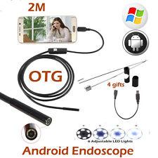 7mm Waterproof Android Endoscope 2M USB Endoscope Camera Inspection Borescope