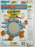 General Mills Cinnamon Toast Crunch 2004 Cereal Box Empty Flat CD Game Series