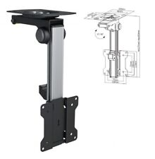 "TV Tilt Swivel Flip Down Folding Ceiling Wall Mount Bracket 13 - 27"" Loft Roof"