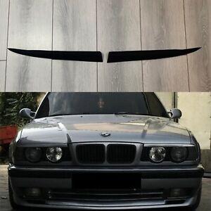 For BMW E34 M5 520 525 530 540 535 Headlight Cover Eyelids Eyelashes Eyebrows