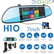 7'' 3G WIFI 1080P HD Dual Lens Car Rear View Mirror DVR Dash Camera Android Cam