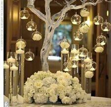 Hanging Tealight Holder Glass Candle Globes Terrarium Candlestick Home Decor