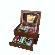 Miniature Hussif Needlework Sewing Box Accessories 1:12 Dollhouse Decor