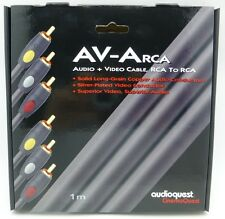 Audioquest AV-A RCA Audio + video  Cable 1 meter  3 RCA to 3 RCA