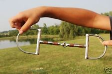 """Brand new Draft Horse 6"""" stainless D-ring snaffle bit with copper rollers"""
