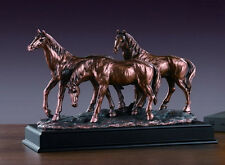 Three Horses Bronze Sculpture 3 Horses  Wild Horse Resin Statue Display Desk