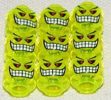 LEGO LOT OF 9 MINIFIGURE HEAD BOMB JOKER NEON GRREN BATMAN MONSTER MINIFIG FACE