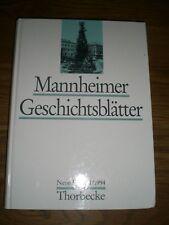 Mannheimer Geschichtsblätter.  Neue Folge , 1 / 1994 Mannheim Chronik Geschichte