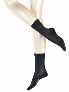 Falke Womens Sensual Silk Midcalf Socks - Dark Navy