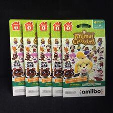 Animal Crossing Happy Home Designer Amiibo Card 5-Pack(6 Amiibo Cards in 1 Pack)