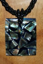 ABSOLUTELY STUNNING, MOTHER OF PEARL SHELL and BEAD, HANDMADE NECKLACE
