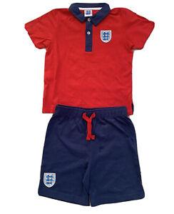 Boys Kids England Polo T- Shirt  & Short Set Kit Summer Boys Set  2-4 years
