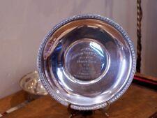 1938 Garrison Forest School Horse Show Sterling Silver Trophy Plate