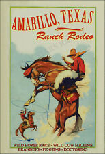 Ranch Rodeo Amarillo, Texas -  VINTAGE-  RODEO POSTER