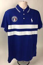 Polo Ralph Lauren FRANCE Soccer Custom Fit Cotton Polo Shirt Big Pony XL