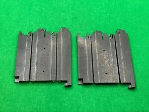 "2 EACH ORIGINAL AFX TO AURORA TOMY ADAPTER TRACKS, 3 IN"" STRAIGHTS, USED"