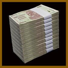 Zimbabwe 200 Million Dollars x 1000 Pcs Brick, 2008 AA Cir, 100 Trillion Series