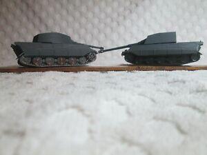 2 ROCO Model German Konigstiger Tanks HO Scale #9 Made in Austria DBGM nr