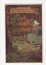 Volkslieder Vintage German Art Postcard 318a