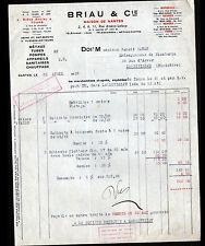 """NANTES (44) QUINCAILLERIE , CHAUFFAGE & APPAREIL MENAGER """"BRIAU & Cie"""" en 1932"""