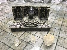 Dwarven Forge Painted Resin Catacombs 2 x 4 LED Straight Wall with Accessories