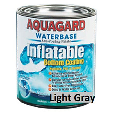 Aquagard Waterbase Inflatable Boat Anti Fouling Bottom Paint Quart Light Gray