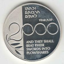 Israel 1999 Holy Land Millennium Coin Proof 28.8g Silver 2nis Off-Quality #1